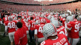 COLUMBUS, OH - NOVEMBER 18:  The Ohio State Buckeyes take the field against the Michigan Wolverines November 18, 2006 at Ohio Stadium in Columbus, Ohio.  (Photo by Gregory Shamus/Getty Images)