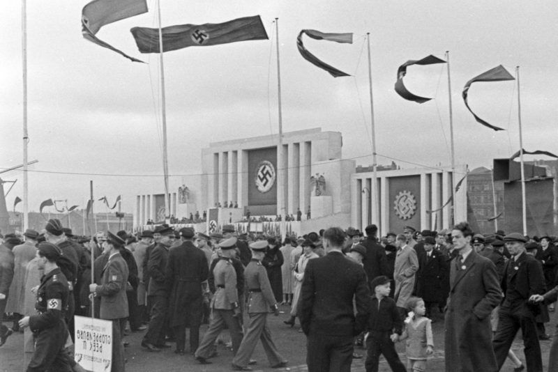 Nazi party event for the Hitler youth Reichssieger competition 1936, Germany 1930s.