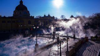 Budapest, 2017. január 7.Vendégek a Széchenyi gyógyfürdőben 2017. január 7-én.MTI Fotó: Kallos Bea