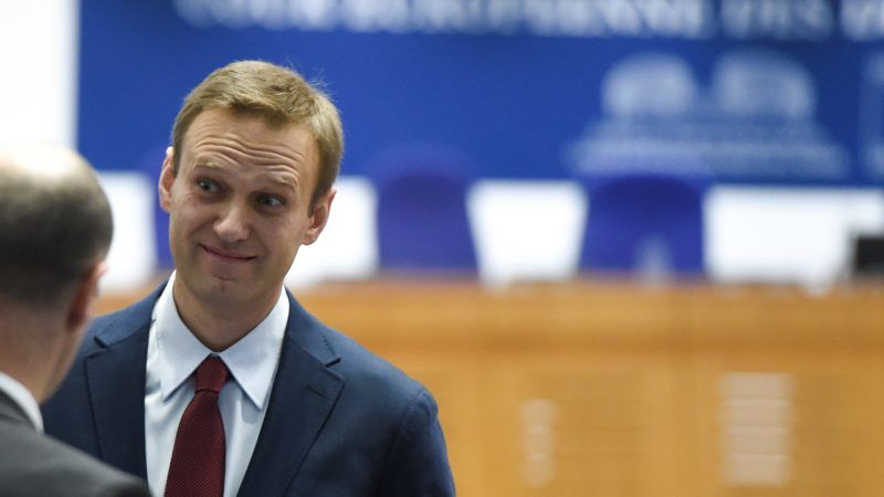 Russian opposition leader Alexei Navalny looks on ahead of a hearing at the European Court of Human Rights (ECHR) in Strasbourg on November 15, 2018. - ?Top Kremlin critic Alexei Navalny heads on November 15 to the European Court of Human Rights which will rule on whether his repeated arrests were politically motivated. The court in Strasbourg must decide whether Navalny, an anti-corruption campaigner and President Vladimir Putin's most vocal critic, was arbitrarily arrested and detained by Russian authorities. Between 2012 and 2014 he was arrested seven times at public gatherings and prosecuted for either breaching procedures for holding public events or disobeying a police order. (Photo by Frederick FLORIN / AFP)