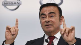 (FILES) In this file photo taken on May 13, 2015, Nissan Motors Chairman and CEO Carlos Ghosn speaks during the company's financial results press conference in Yokohama. - Nissan board members have sacked Carlos Ghosn as chairman, local media reported on November 22, 2018, which would be a spectacular fall from grace for the once-revered boss whose arrest for financial misconduct stunned the car industry and the business world. (Photo by Toshifumi KITAMURA / AFP)