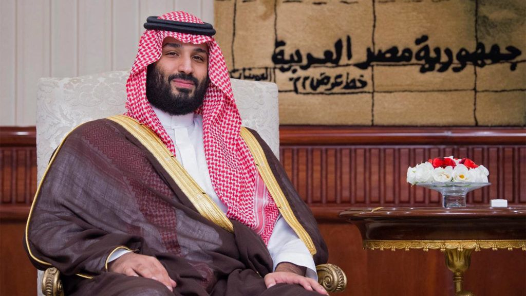 """A handout picture provided by the Saudi Royal Palace on November 27, 2018, shows Saudi Crown Prince Mohammed bin Salman in the Egyptian capital Cairo during his regional tour. - The Saudi Crown Prince embarked on a regional tour on November 22 to visit a """"number of brotherly"""" Arab states at the request of his father, King Salman, the royal court then said in a statement carried by the official Saudi Press Agency. (Photo by Bandar AL-JALOUD / Saudi Royal Palace / AFP) / RESTRICTED TO EDITORIAL USE - MANDATORY CREDIT """"AFP PHOTO / SAUDI ROYAL PALACE / BANDAR AL-JALOUD"""" - NO MARKETING - NO ADVERTISING CAMPAIGNS - DISTRIBUTED AS A SERVICE TO CLIENTS"""