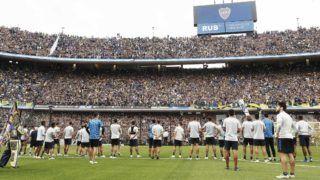 Buenos Aires, 22 de noviembre de2018 Entrenamiento de Boca Juniors a puertas abiertas en la Bombonera. Photogamma/Photosport