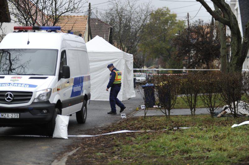 Budapest, 2018. november 21. Bûnügyi helyszínelés a fõváros III. kerületében, ahol több lövéssel végeztek egy nõvel hajnalban 2018. november 21-én. A bûncselekménnyel gyanúsítható férfit a helyszín közelében elfogták. MTI/Mihádák Zoltán