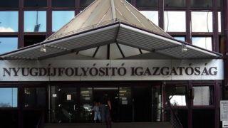 Budapest, 2016. június 20. Az Országos Nyugdíjfolyósító Igazgatóság fõbejárata a fõváros XIII. kerületében, a Váci úton.  MTVA/Bizományosi: Jászai Csaba  *************************** Kedves Felhasználó! Ez a fotó nem a Duna Médiaszolgáltató Zrt./MTI által készített és kiadott fényképfelvétel, így harmadik személy által támasztott bárminemû – különösen szerzõi jogi, szomszédos jogi és személyiségi jogi – igényért a fotó készítõje közvetlenül maga áll helyt, az MTVA felelõssége e körben kizárt.