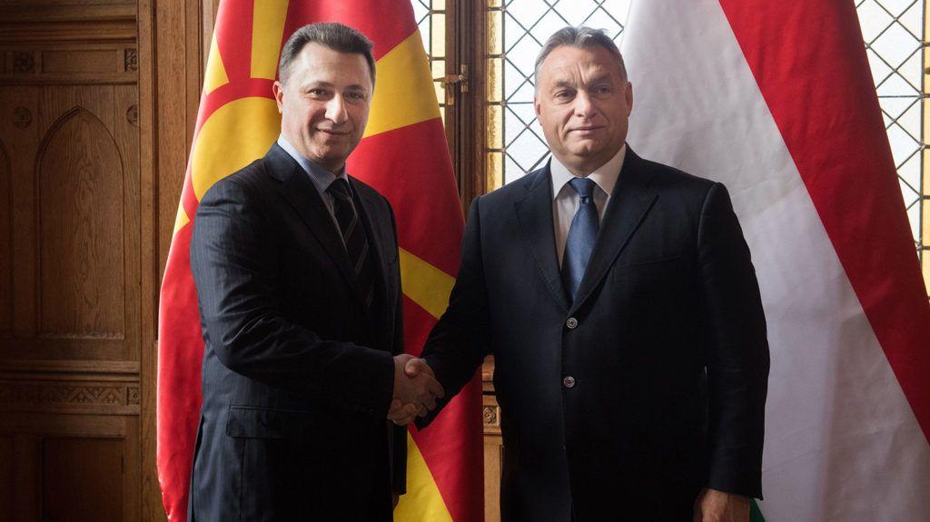 Budapest, 2016. november 18.Orbán Viktor miniszterelnök (j) fogadja Nikola Gruevszkit, Macedónia korábbi miniszterelnökét a Parlament Nándorfehérvári termében 2016. november 18-án.MTI Fotó: Koszticsák Szilárd