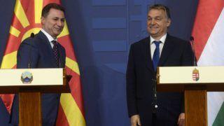 Budapest, 2015. november 20. Nikola Gruevszki macedón kormányfõ (b) és Orbán Viktor miniszterelnök a Parlamentben tartott sajtótájékoztatón 2015. november 20-án. MTI Fotó: Soós Lajos