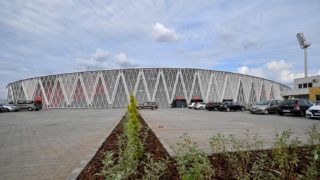 Kisvárda, 2018. augusztus 11.A Kisvárda FC labdarúgócsapatának stadionja, a kisvárdai Várkert Stadion az avatás napján, 2018. augusztus 11-én.MTI Fotó: Czeglédi Zsolt