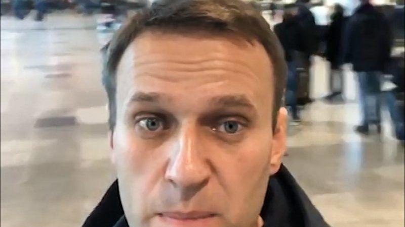 Moszkva, 2018. november 13. Alekszej Navalnij orosz ellenzéki vezetõ és korrupcióellenes aktivista a moszkvai Domogyedovói nemzetközi repülõtéren 2018. november 13-án. Navalnijt nem engedték a határõrök Moszkvából Strasbourgba utazni, ahol az Emberi Jogok Európai Bírósága (EJEB) az õ ügyében készül ítélethirdetésre. A határõrök a repülõtéren közölték vele, hogy nem hagyhatja el Oroszországot, de a tilalom konkrét okát nem ismertették vele. MTI/AP