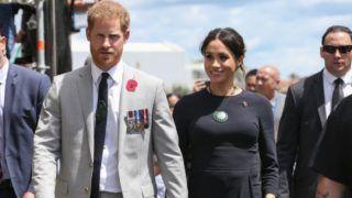 The Duke and Duchess of Sussex on Te Papaiouru marae in Rotorua, New Zealand, Wednesday, October 31, 2018. The Duke and Duchess of Sussex are on a three-week tour of Australia, New Zealand, Tonga, and Fiji. (AAP Image/David Rowland) NO ARCHIVING ***POOL PHOTO***