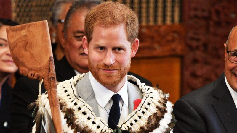 Mandatory Credit: Photo by Tim Rooke/REX/Shutterstock (9953806ai) Prince Harry attends a powhiri and luncheon in their Highnesses' honour at the Te Papaiouru Marae in Rotorua. Prince Harry and Meghan Duchess of Sussex tour of New Zealand - 31 Oct 2018