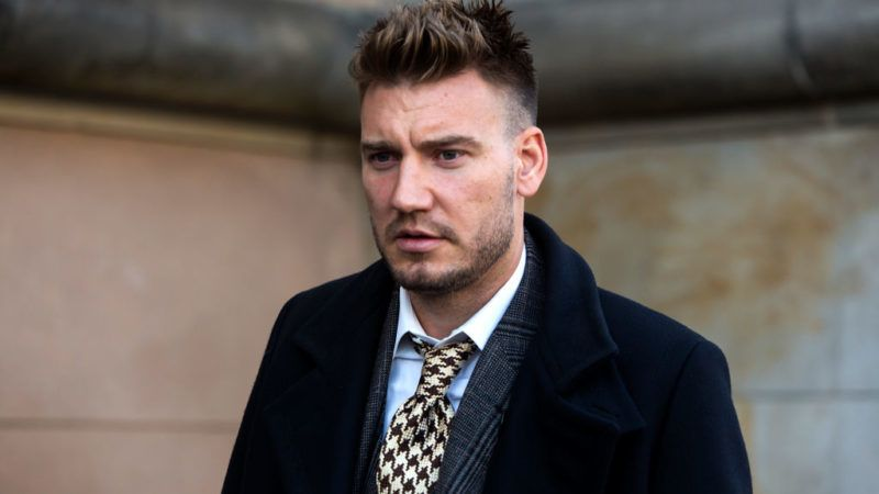 COPENHAGEN, DENMARK - NOVEMBER 02: Footballer Nicklas Bendtner seen at the court case regarding Bendtners charge for violence towards a taxi driver in September this year on November 2, 2018, in Copenhagen, Denmark.  Bendtner was sentenced to 50 days of unconditional imprisonment and a claim for damages. His lawyer , Anders Nemeth, stated to the press that the ruling was appealed. Nicklas Bendtner plays forward for Norwegian Rosenborg and the Denmark national team. Before these he played for Arsenal, Sunderland, Birmingham City, Juventus and Vfl. Wolfburg. (Photo by Ole Jensen/Getty Images)