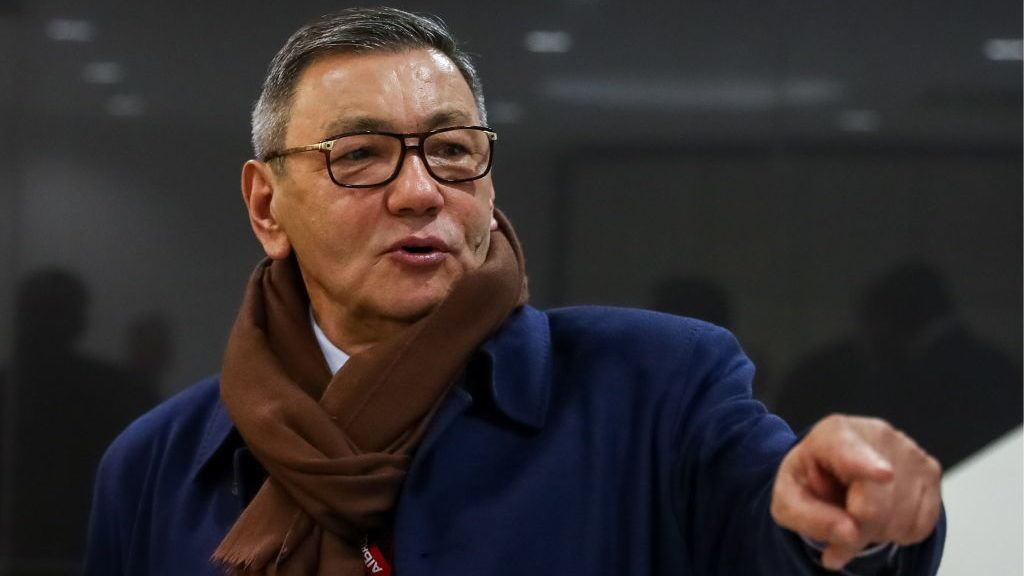 MOSCOW, RUSSIA - NOVEMBER 3, 2018: Acting AIBA president, Gafur Rakhimov, gestures before a meeting at the 2018 AIBA (International Boxing Association) Congress at the Radisson Royal Moscow Hotel (Ukraina Hotel); one of the purposes of the congress is to elect a new AIBA president. Stanislav Krasilnikov/TASS (Photo by Stanislav KrasilnikovTASS via Getty Images)