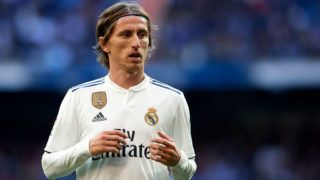 MADRID, SPAIN - NOVEMBER 03:  Luka Modric of Real Madrid looks on during the La Liga match between Real Madrid CF and Real Valladolid CF at Estadio Santiago Bernabeu on November 3, 2018 in Madrid, Spain.  (Photo by Quality Sport Images/Getty Images)