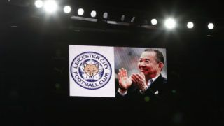 LONDON, ENGLAND - NOVEMBER 03:  A big screem commemorates Vichai Srivaddhanaprabha ahead of the Premier League match between Arsenal FC and Liverpool FC at Emirates Stadium on November 3, 2018 in London, United Kingdom.  (Photo by Julian Finney/Getty Images)