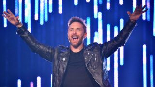 BILBAO, SPAIN - NOVEMBER 04:  David Guetta performs on stage during the MTV EMAs 2018 on November 4, 2018 in Bilbao, Spain.  (Photo by Jeff Kravitz/FilmMagic)