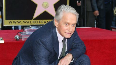 HOLLYWOOD, CA - NOVEMBER 06: Michael Douglas is honored with a Star on the Hollywood Walk of Fame on November 6, 2018 in Hollywood, California. (Photo by JB Lacroix/WireImage)