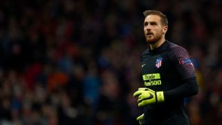 Jan Oblak of Atletico Madrid during the Group A match of the UEFA Champions League between Atletico de Madrid and Borussia Dortmund at Wanda Metropolitano Stadium, Madrid on November 06 of 2018. (Photo by Jose Breton/NurPhoto via Getty Images)