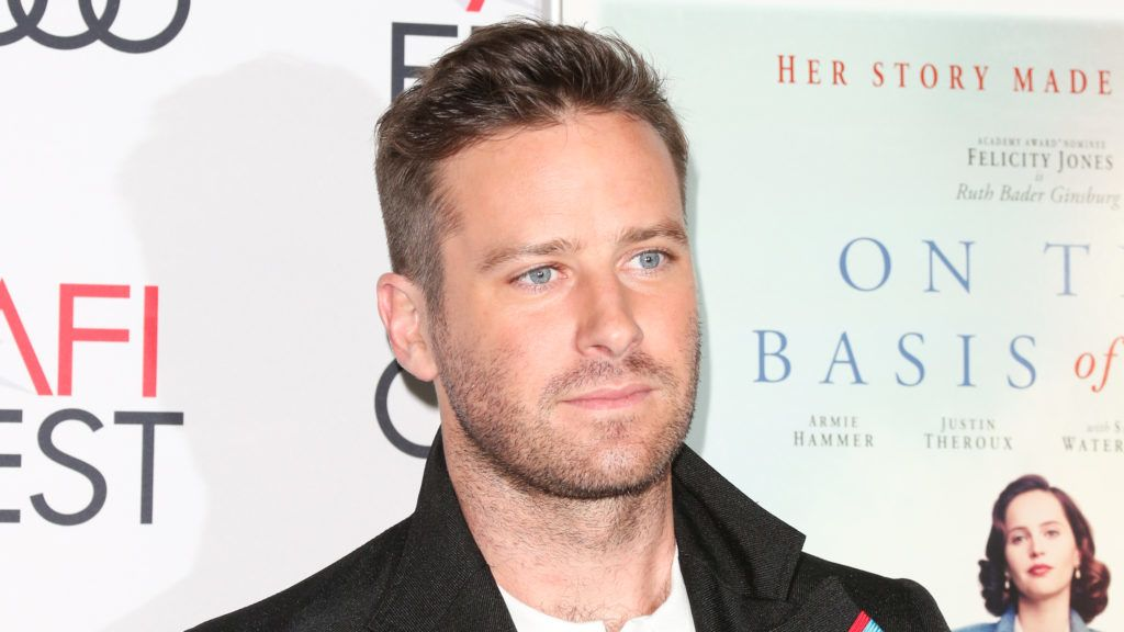 HOLLYWOOD, CA - NOVEMBER 08:  Actor Armie Hammer attends the 2018 AFI FEST Presented By Audi at TCL Chinese Theatre on November 8, 2018 in Hollywood, California.  (Photo by Paul Archuleta/FilmMagic,)