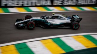 SAO PAULO, BRAZIL - NOVEMBER 09: Valtteri Bottas driving the (77) Mercedes AMG Petronas F1 Team Mercedes WO9 on track during practice for the Formula One Grand Prix of Brazil at Autodromo Jose Carlos Pace on November 9, 2018 in Sao Paulo, Brazil.  (Photo by Lars Baron/Getty Images)