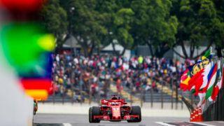 SAO PAULO, BRAZIL - NOVEMBER 09:  Sebastian Vettel of Ferrari and Germany during practice for the Formula One Grand Prix of Brazil at Autodromo Jose Carlos Pace on November 9, 2018 in Sao Paulo, Brazil.  (Photo by Peter J Fox/Getty Images)