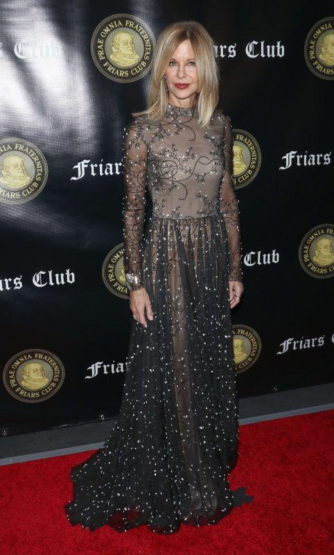 NEW YORK, NY - NOVEMBER 12: Actress Meg Ryan attends the Friar's Club Entertainment Icon Award at The Ziegfeld Ballroom on November 12, 2018 in New York City.  (Photo by Jim Spellman/WireImage)