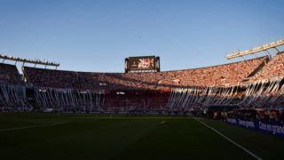 BUENOS AIRES, ARGENTINA - NOVEMBER 24: View of Estadio Monumental Antonio Vespucio Liberti before the second leg final match of Copa CONMEBOL Libertadores 2018 between River Plate and Boca Juniors at Estadio Monumental Antonio Vespucio Liberti on November 24, 2018 in Buenos Aires, Argentina. The match was suspended due to injured players of Boca Juniors after fans stoned the team's bus and were  affected by tear gas. (Photo by Marcelo Endelli/Getty Images)
