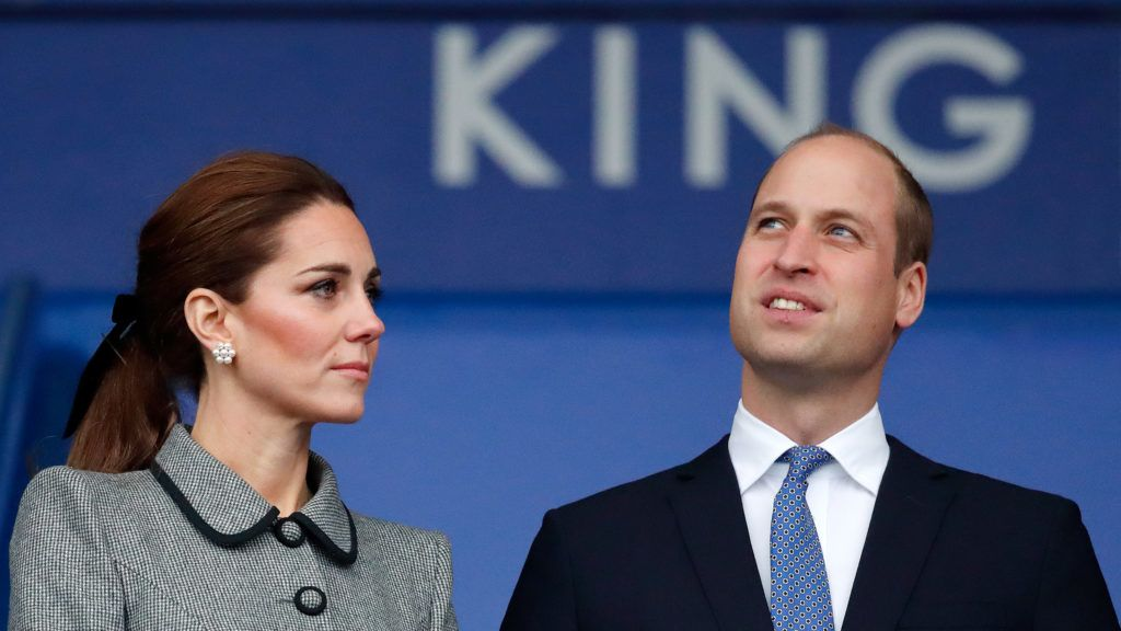 LEICESTER, UNITED KINGDOM - NOVEMBER 28: (EMBARGOED FOR PUBLICATION IN UK NEWSPAPERS UNTIL 24 HOURS AFTER CREATE DATE AND TIME) Catherine, Duchess of Cambridge and Prince William, Duke of Cambridge visit Leicester City Football Club's King Power Stadium to pay tribute to those people killed, including club owner Vichai Srivaddhanaprabha, in the helicopter crash of October 27 on November 28, 2018 in Leicester, England. (Photo by Max Mumby/Indigo/Getty Images)