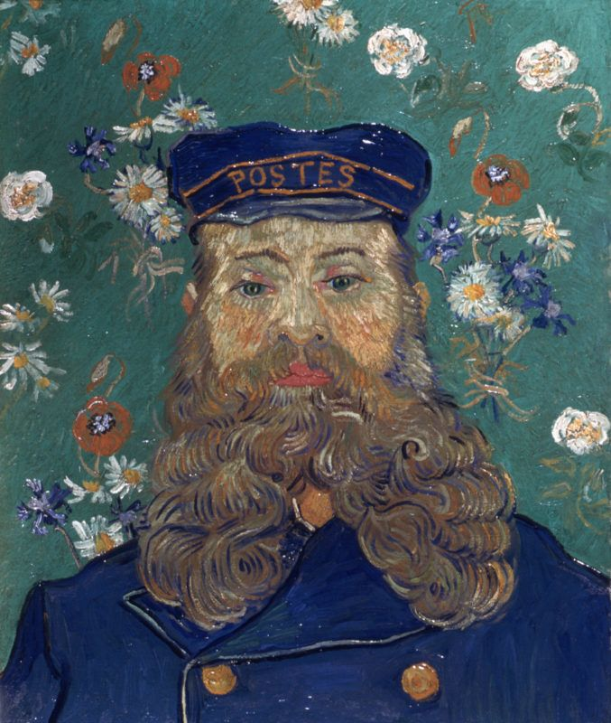 Head of the Postman Joseph Roulin by Vincent van Gogh   (Photo by Francis G. Mayer/Corbis/VCG via Getty Images)