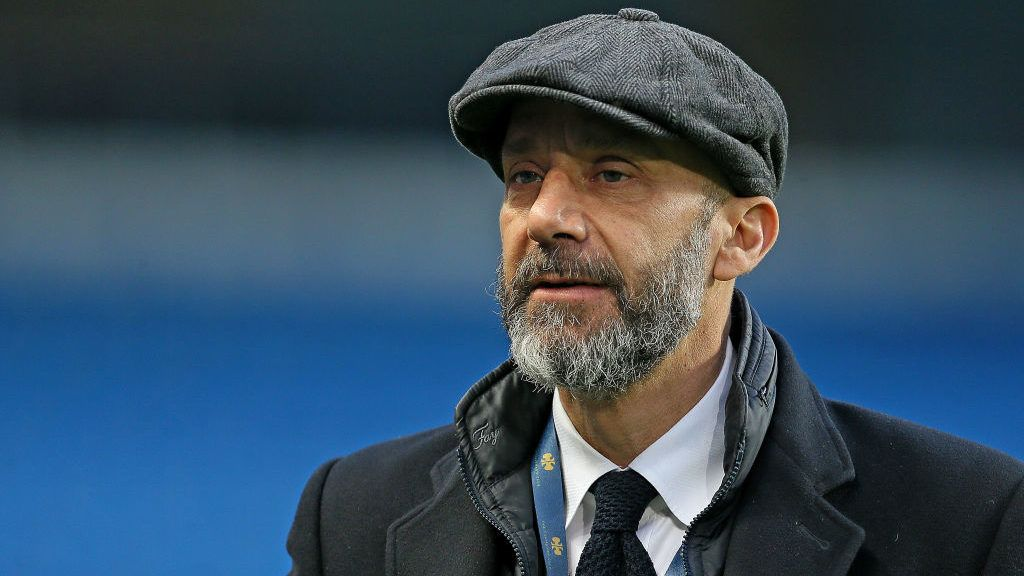 MANCHESTER, UNITED KINGDOM - MARCH 23: Gianluca Vialli  during the  International Friendly match between Italy  v Argentina  at the Etihad Stadium on March 23, 2018 in Manchester United Kingdom (Photo by Richard Sellers/Soccrates/Getty Images)