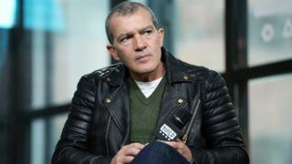 """NEW YORK, NY - APRIL 19:  Actor Antonio Banderas visits Build Studio to discuss National Geographic's anthology """"Genius: Picasso""""  on April 19, 2018 in New York City.  (Photo by Monica Schipper/Getty Images)"""