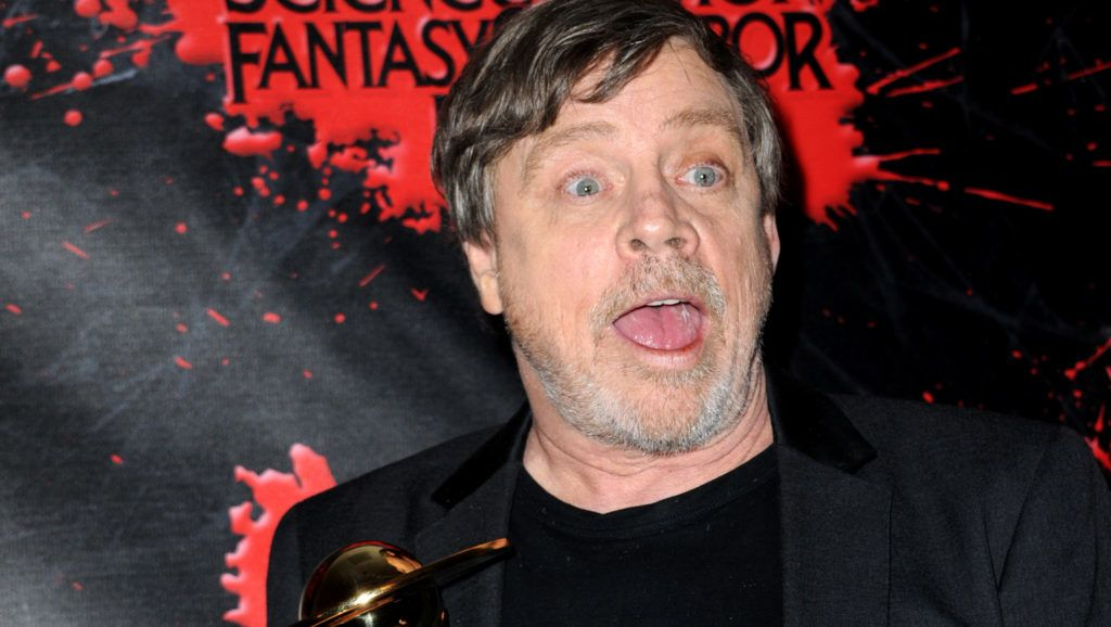 BURBANK, CA - JUNE 27:  Mark Hamill poses in the press room at the Academy Of Science Fiction, Fantasy & Horror Films' 44th Annual Saturn Awards at The Castaway on June 27, 2018 in Burbank, California.  (Photo by Albert L. Ortega/Getty Images)