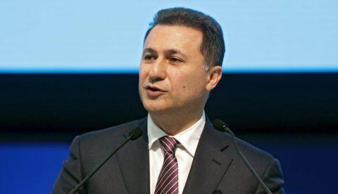 Madrid, 2015. október 21. Nikola Gruevszki macedón kormányfõ beszédet mond az Európai Néppárt kétnapos kongresszusán Madridban 2015. október 21-én. (MTI/EPA/Paco Campos)