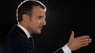 Pont-a-Mousson, 2018. november 6. Emmanuel  Macron francia elnök beszédet mond egy rendezvényen az északkelet-franciaországi Pont-a-Moussonban 2018. november 5-én. Macron az elsõ világháborút lezáró tûzszünet aláírásának 100. évfordulója alkalmából kezdett egyhetes körútja során felkeresi az elsõ világháború franciaországi emlékhelyeit. MTI/EPApool/Ludovic Marin