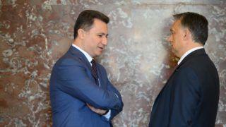 Brüsszel, 2015. június 25. Az Európai Néppárt által közreadott képen Orbán Viktor miniszterelnök (j) és Nikola Gruevszki macedón kormányfõ a konzervatív Európai Néppárt, az EPP csúcsértekezletén, amelyet az Európai Unió brüsszeli csúcstalálkozója elõtt tartanak 2015. június 25-én. (MTI/Európai Néppárt)