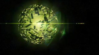 artificial Dyson spherical swarm structure around Boyajian's Star