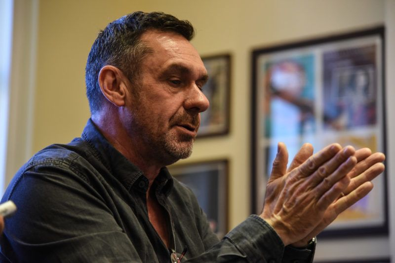 The famous british journalist Paul Mason presenting his new book about Postcapitalism in Athens, on May 5, 2016(Photo by Wassilios Aswestopoulos/NurPhoto)