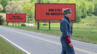 Three Billboards Outside Ebbing, Missouri  Year : 2017 USA / UK Director : Martin McDonagh Frances McDormand Photo: Merrick Morton. It is forbidden to reproduce the photograph out of context of the promotion of the film. It must be credited to the Film Company and/or the photographer assigned by or authorized by/allowed on the set by the Film Company. Restricted to Editorial Use. Photo12 does not grant publicity rights of the persons represented.