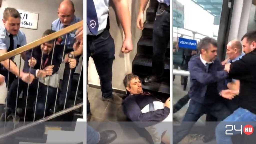 Videón Hadházy Ákos és Szél Bernadett kipenderítése az állami televízióból