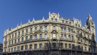 Budapest, 2018. október 10. A Klotild palota Kossuth Lajos utcai homlokzatának panorámaképe. MTVA/Bizományosi: Róka László  *************************** Kedves Felhasználó! Ez a fotó nem a Duna Médiaszolgáltató Zrt./MTI által készített és kiadott fényképfelvétel, így harmadik személy által támasztott bárminemû – különösen szerzõi jogi, szomszédos jogi és személyiségi jogi – igényért a fotó készítõje közvetlenül maga áll helyt, az MTVA felelõssége e körben kizárt.