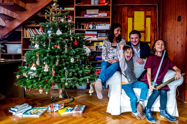 A Rész család először ünnepelt együtt pomázi családi házukban, miután Budapest belvárosából egy nyugodtabb környezetbe költöztek. Fotó: Bielik István / 24.hu