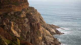 Scenic coastal road Chapman's Peak Drive, near Hout Bay, South Africa