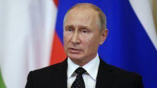 Moszkva, 2018. szeptember 18. Vlagyimir Putyin orosz elnök sajtótájékoztatót tart Orbán Viktor miniszterelnökkel folytatott találkozóját követõen a moszkvai Kremlben 2018. szeptember 18-án. MTI Fotó: Koszticsák Szilárd