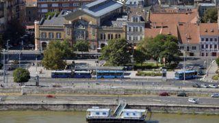 Budapest, 2014. szeptember 21. A Batthyány tér a Parlament kupolájáról fényképezve 2014. szeptember 21-én. MTI Fotó: Máthé Zoltán