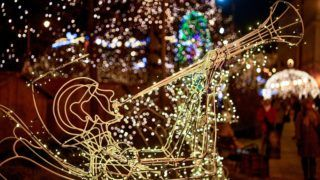 Debrecen, 2018. december 2. Adventi ünnepi díszkivilágítás a debreceni Kossuth téren 2018. december 2-án. MTI/Czeglédi Zsolt