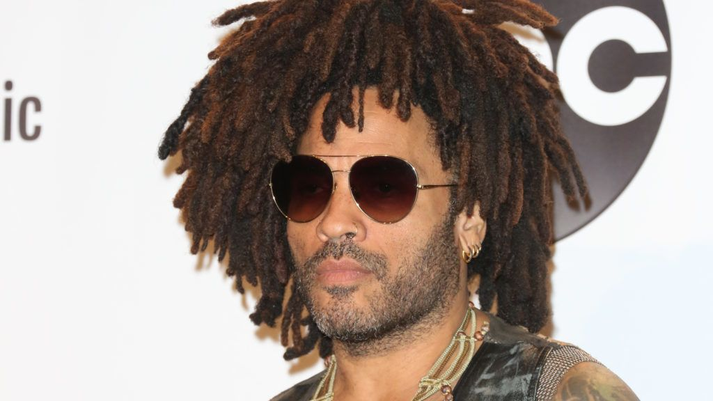 LOS ANGELES, CA - OCTOBER 09:  Recording Artist Lenny Kravitz poses in the press room at the 2018 American Music Awards at Microsoft Theater on October 9, 2018 in Los Angeles, California.  (Photo by Paul Archuleta/FilmMagic)