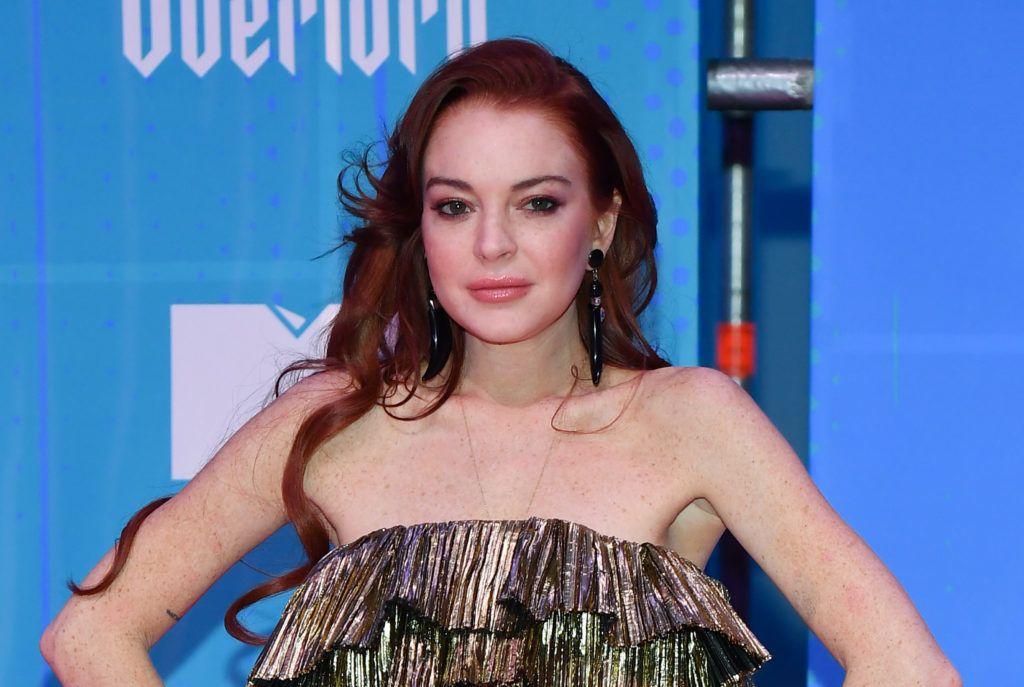 BILBAO, SPAIN - NOVEMBER 04:  Lindsay Lohan attends the MTV EMAs 2018 on November 4, 2018 in Bilbao, Spain.  (Photo by Stephane Cardinale - Corbis/Corbis via Getty Images)