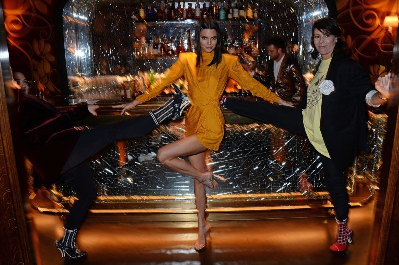 LONDON, ENGLAND - NOVEMBER 15:   Kendall Jenner and Charlotte Stockdale attend the Chaos SixtyNine Issue 2 launch party hosted by Charlotte Stockdale and Katie Lyall in The Baptist Bar at L'Oscar London on November 15, 2018 in London, Englan  (Photo by David M. Benett/Dave Benett/Getty Images for Chaos SixtyNine)