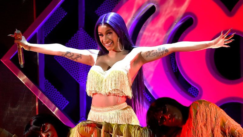 INGLEWOOD, CA - NOVEMBER 30:  Cardi B performs onstage during 102.7 KIIS FM's Jingle Ball 2018 Presented by Capital One at The Forum on November 30, 2018 in Inglewood, California.  (Photo by Kevin Winter/Getty Images for iHeartMedia)