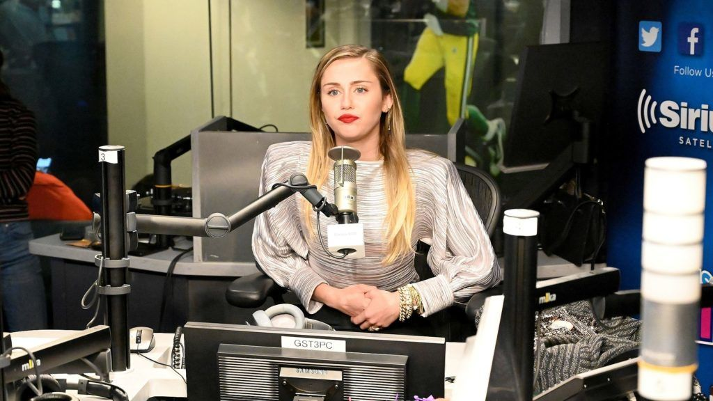 NEW YORK, NY - DECEMBER 10:  Miley Cyrus visits The SiriusXM Studios on December 10, 2018 in New York City.  (Photo by Kevin Mazur/Getty Images for SiriusXM)